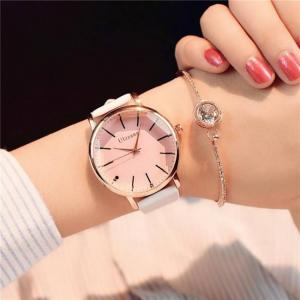 Polygonal dial design women luxury fashion dress quartz watch ulzzang popular brand white ladies leather wristwatch