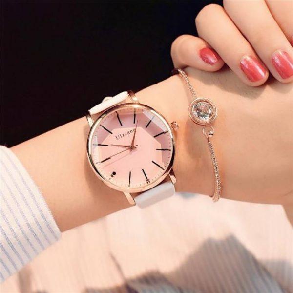 FREE SHIPPING Polygonal dial design women luxury fashion dress quartz watch ulzzang popular brand white ladies leather wristwatch brand