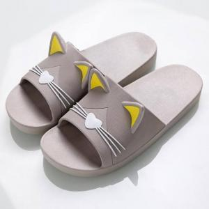 Summer women slippers cute cartoon cat indoor bathroom animal style t1808017b