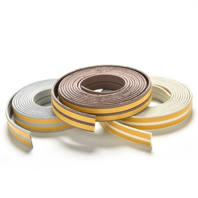 Seal draft Adhesive Rubber Door Window Tear EPDM roll foam