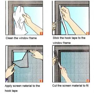 Window anti mosquito bug fly insect mesh net screen