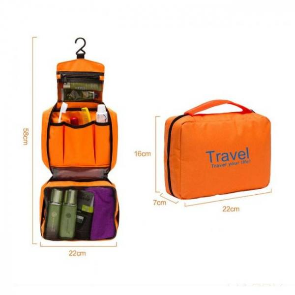 Mtb-5 high quality waterproof portable toiletry cosmetics makeup hanging travel bag