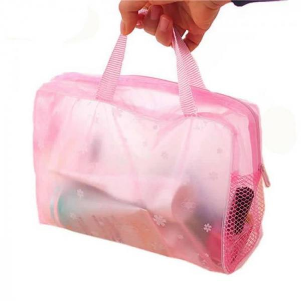 Women's waterproof transparent cosmetic bag
