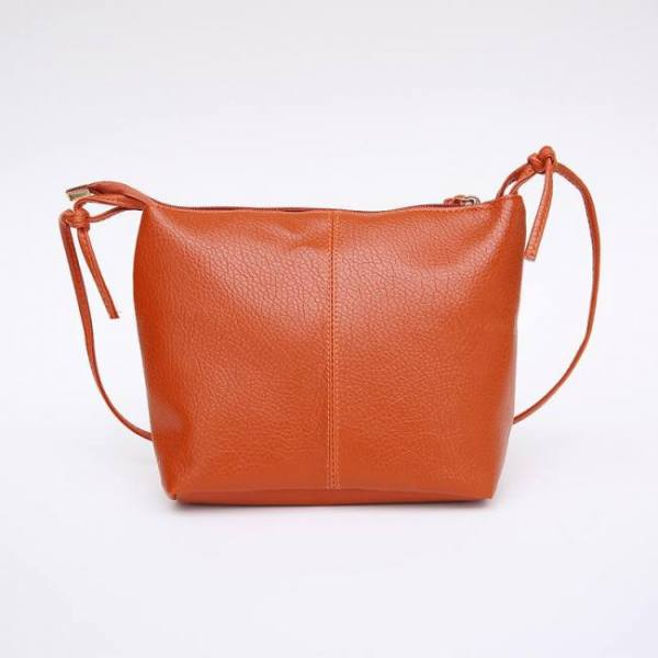 Fashion minimalistic compact leather women's shoulder bag
