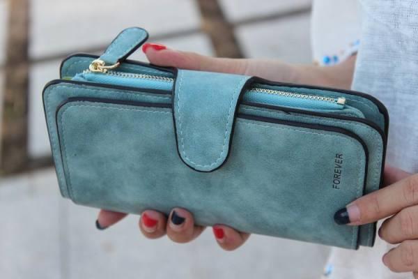 Women's elegant marble printed wallet
