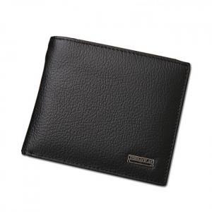 Bi-fold genuine leather wallet for men