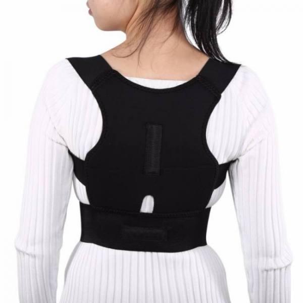 Adjustable back brace posture corrector spinal lumbar support belt