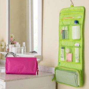 Mtb-6 high quality waterproof portable toiletry cosmetics makeup hanging travel bag