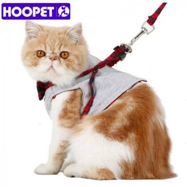 Small cat dog walking fabric harness jacket+leash set