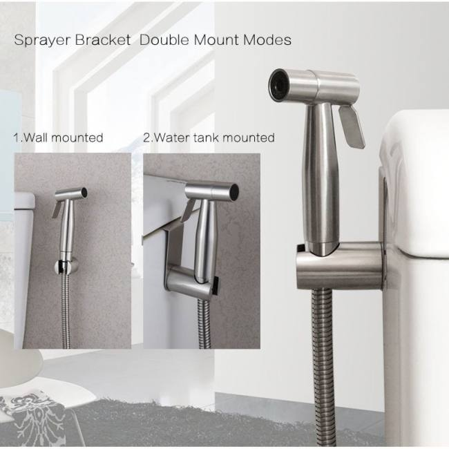 Handheld Toilet Bidet Sprayer Set Kit Stainless Steel Hand Bidet Faucet For Bathroom Hand Sprayer Shower Head Self Cleaning Sadoun Sales
