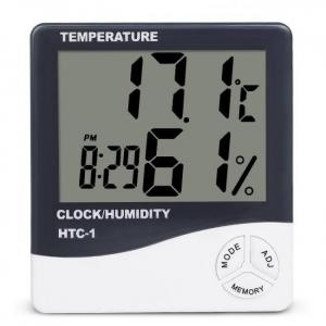 Indoor digital thermometer hygrometer temperature humidity meter htc-1