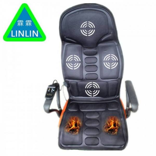 Electric portable heating vibrating back massager cushion for car home office epm2