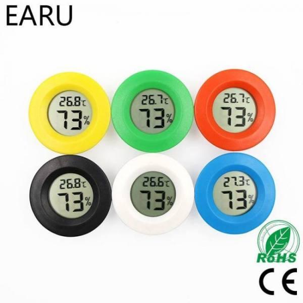 Mini lcd digital thermometer hygrometer fridge freezer tester temperature humidity meter detector thermograph