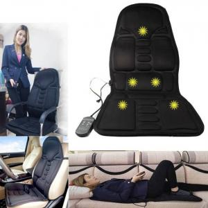 Electric portable heating vibrating back massager cushion for car home office epm3