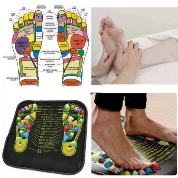 FREE SHIPPING Reflexology Foot Massager Mat 35cm x 35cm (13.8″ x 13.8″) acupressure