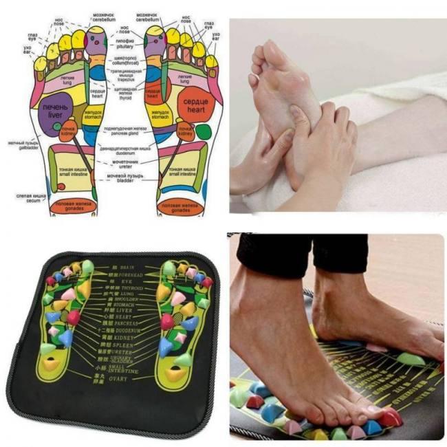 Reflexology foot massager mat 35cm x 35cm (13.8″ x 13.8″)