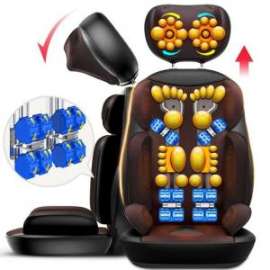 FREE SHIPPING Shiatsu full body neck vibration kneading back heating massage cushion chair back