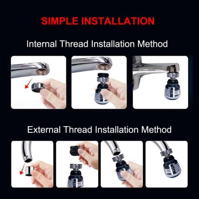 Kitchen Faucet Aerator 2 Modes 360