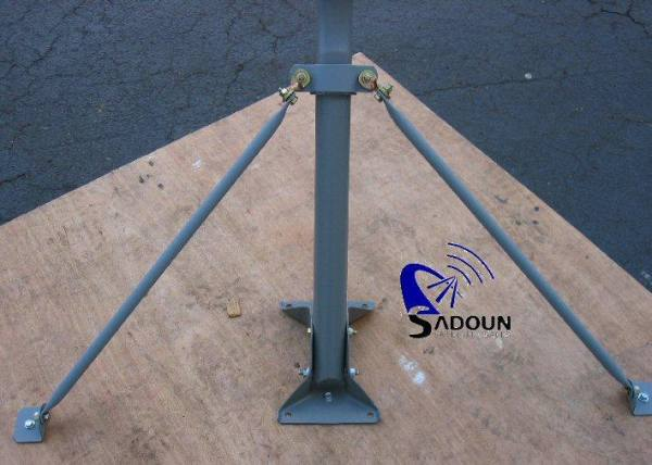 2″ dtv slimline mast base universal dish roof / wall j mount – with braces