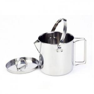 1.2l outdoor stainless steel kettles camping portable boil water hanging pot hot soup coffee tableware