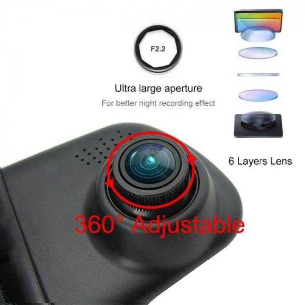 Accessories 4.3 inch 1080P DVR full HD video recorder camera reverse dual lens dash cam rearview mirror 1080p