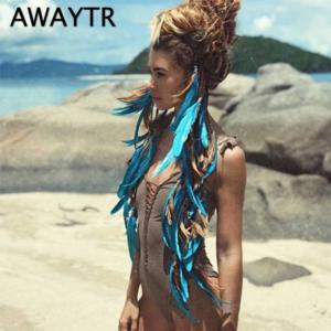 High quality fashionable boho style feather headband hairpiece beads handmade for girls hair accessories