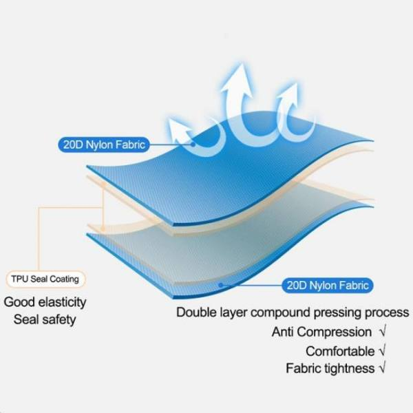 Ultralight portable air mattress inflatable bed for tent sleeping pad air bed moistureproof