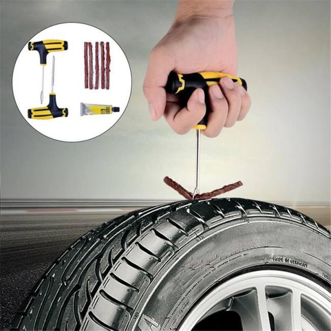 Emergency Tire Repair >> Tubeless Emergency Car Tire Puncture Repair Tool Kit