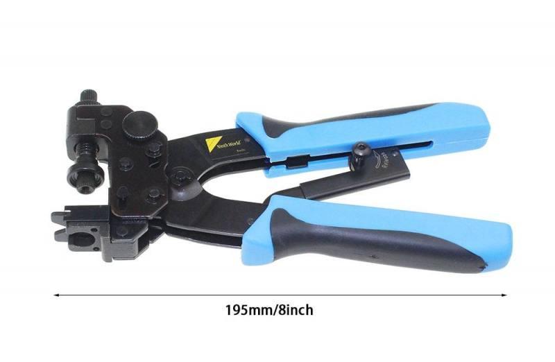 RG59 RG6 RG11 Compression Crimp Tool Ratchet Crimper RCA BNC F Connector Cable