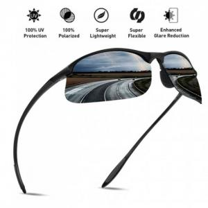 Unbreakable polarized sports sunglasses for men and women frame for running hiking outdoor