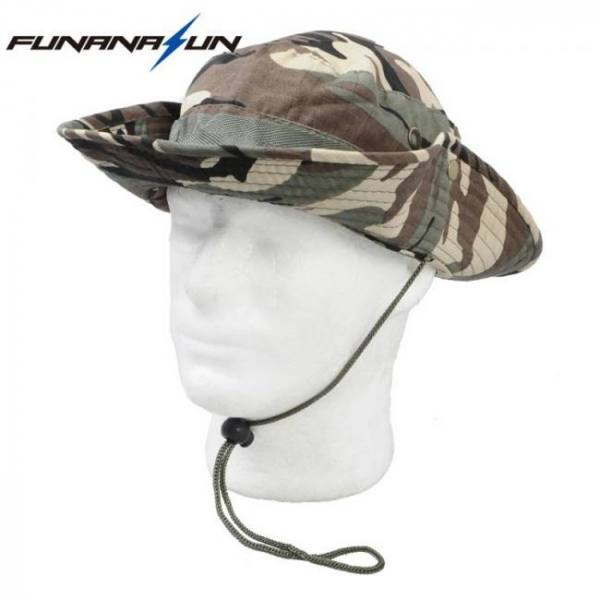 Camp & Survive Men Hunting Camouflage Hat Outdoor Hiking Wide Bucket Caps Unisex Boonie