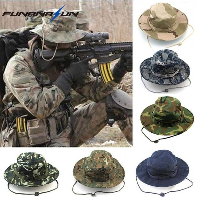 a0bf513b2a21c0 Camp & Survive Men Hunting Camouflage Hat Outdoor Hiking Wide Bucket Caps  Unisex Boonie