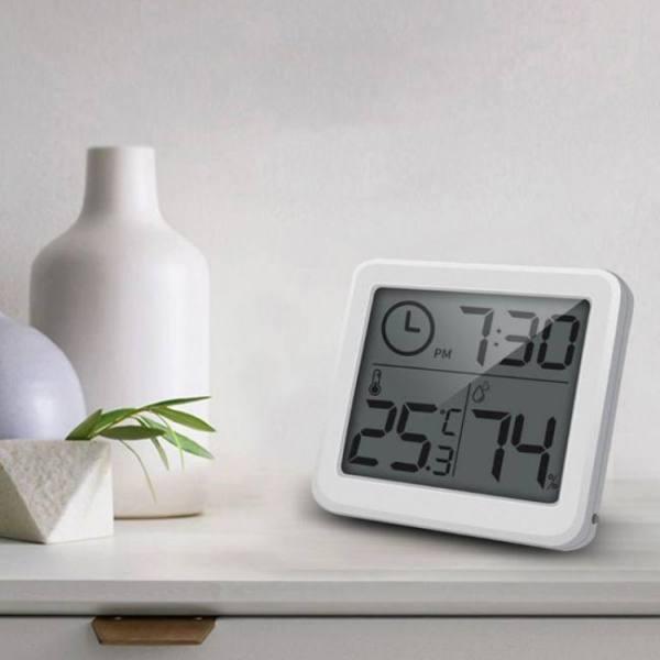 Bedroom Multifunction Thermometer Hygrometer Monitor Clock digital