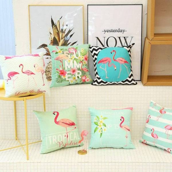 New cute flamingo cushion pillow case flamingo party bedroom sofa home decoration accessories birthday/wedding favors and gifts