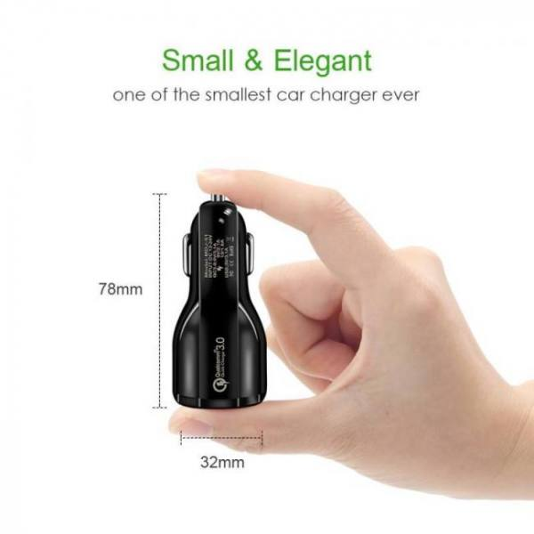 Accessories Quick Charge 3.0 Car Charger For Mobile Phone Dual Usb Car Charger Qualcomm Qc 3.0 Fast Charging Adapter free