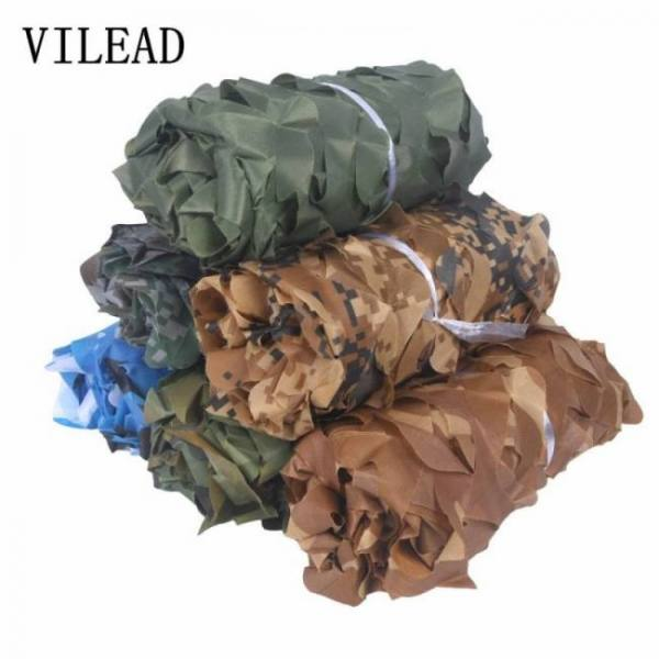 Camp & Survive Woodland Blue Green Desert Camouflage Camo Netting Without Edge Binding Sun Shelter 15m6m