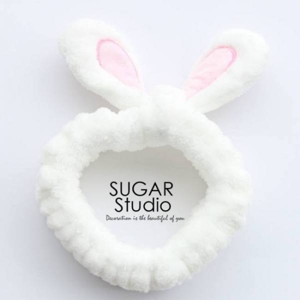 Accessories Cute Soft Rabbit Ears Hair Band Velvet Cartoon Wide Brimmed Headband Ornaments For Girls 1pcs