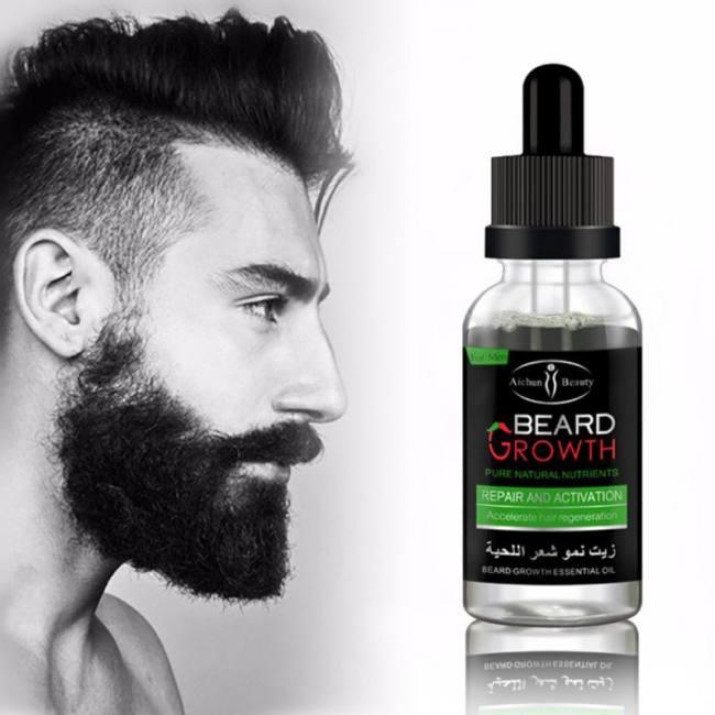 100% natural organic men beard growth oil