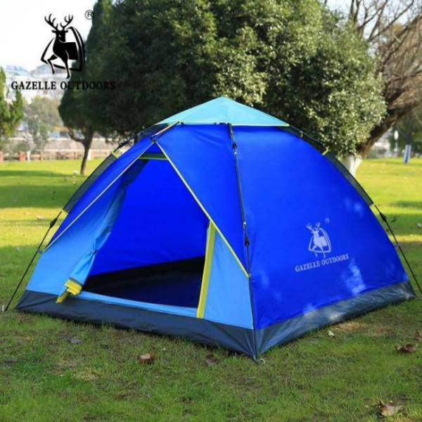 Camp & Survive 1-3 person 180×200 cm Hydraulic Waterproof Double Layer Quick Automatic Opening Camping Tent 1-3