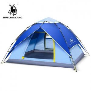 Camp & Survive 3-4 Person 240x 210cm Double Layer Hydraulic Waterproof Camping Tent 2-3