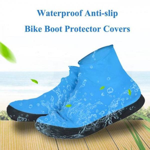 Fishing Rubber Waterproof Reusable Rain Rubber Slip-resistant Shoes Cover Anti-Slip