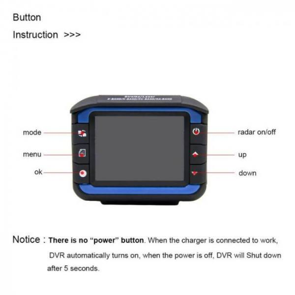 2 in 1 anti laser car radar detector dash cam car dvr camera recorder 140 degree hd 720p