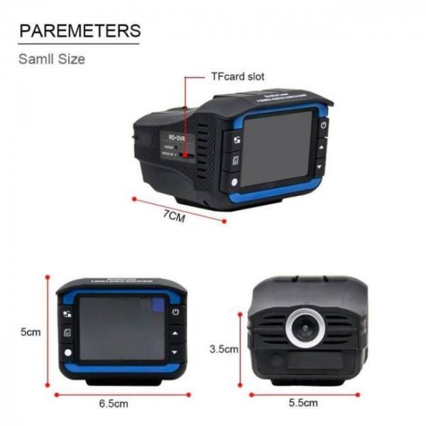 Accessories 2 In 1 Anti Laser Car Radar Detector Dash Cam Car DVR Camera Recorder 140 Degree HD 720P 140