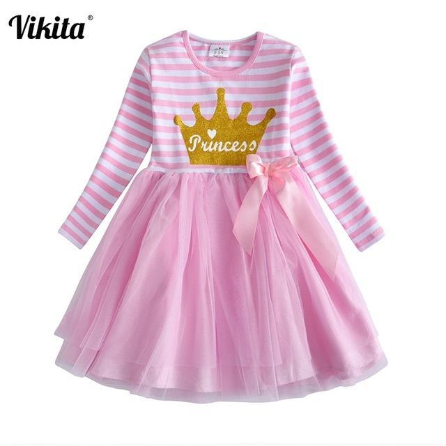 Long sleeve flower dresses children unicorn autumn for girl