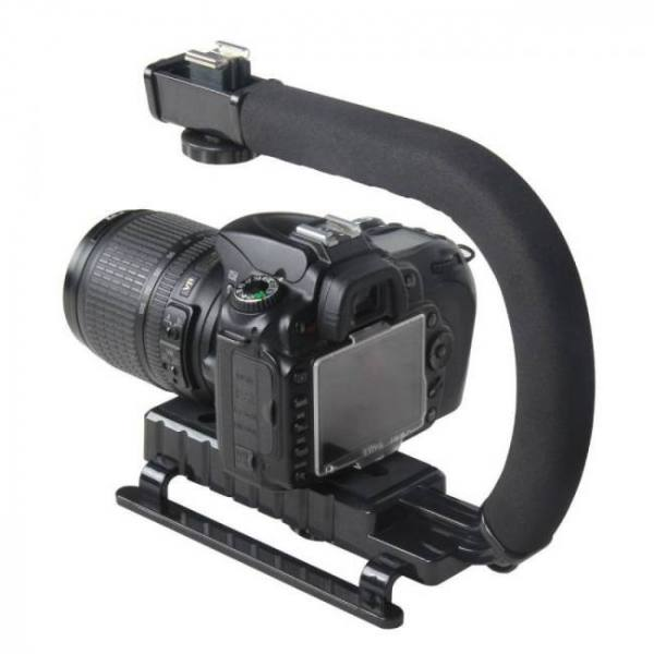 C shaped holder grip video handheld gimbal stabilizer for dslr nikon canon sony camera and light portable steadicam for gopro-in handheld gimbal from consumer electronics on aliexpress.com | alibaba group