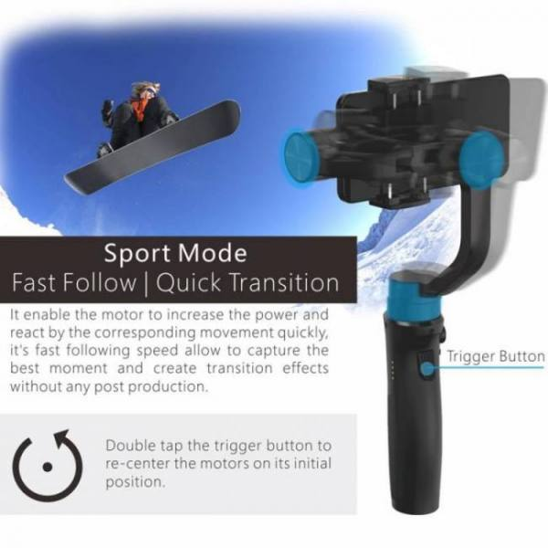 Accessories iSteady Mobile Plus 3-Axis Handheld Smartphone Gimbal Stabilizer for iPhone XS, X, 7, 8 Android Huawei Samsung Smart Phones 3-Axis