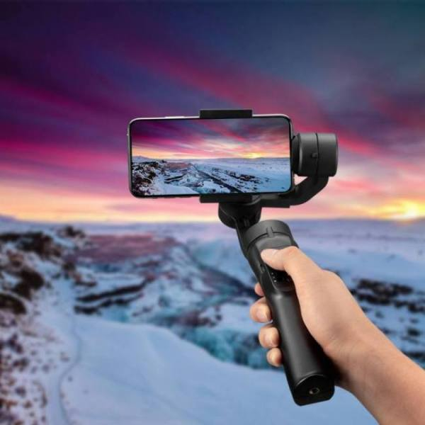 Yeni h4 smartphone action camera gimbal stabilizer