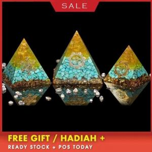 Orgonite pyramid crystal energy converter