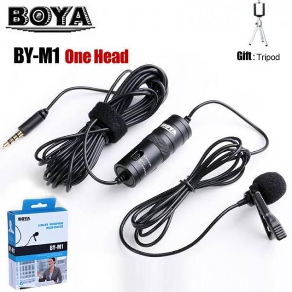 Lavalier camera microphone lapel condenser mic boya by-m1 by-m1dm