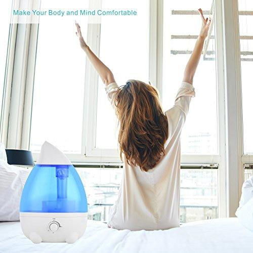 Humidifier diffuser for aroma therapy in bedroom baby room car office yoga home large capacity ultra quiet with waterless auto shut off protection